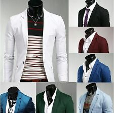 US Seller Men Stylish Slim Fit One Button Blazers Lightweight Casual Jacket PK47