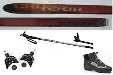 NEW CROSSTOUR XC cross country 75mm SKIS & BINDINGS & BOOTS & POLES - 197cm