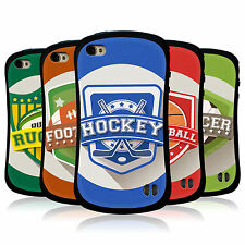 HEAD CASE SPORTS BADGE HYBRID TPU BACK COVER FOR APPLE iPHONE 4