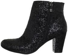 Women's BCBGeneration Charm Black Party Glitter Ankle Boot