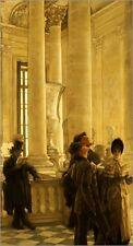 "Poster / Leinwandbild ""The North Stairs at the Louvre"" - James Tissot"