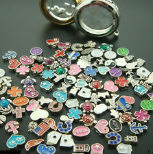 Bulk 10/50/100/500PCS floating charm living memory glass lockets free shipping