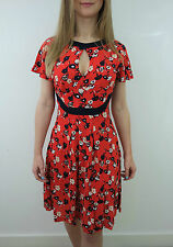 FRENCH CONNECTION RED FLORAL TEA DRESS SIZE 4 - 12 NEW £60 JERSEY TUNIC NAVY