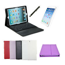 For Apple iPad Air iPad 5 Bluetooth Keyboard Leather Case Cover + Film & Stylus