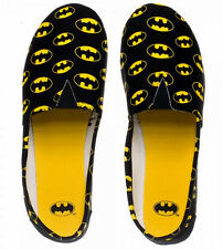 DC Comics BATMAN All-Over Logo Print Canvas Ladies Slip-On SHOES