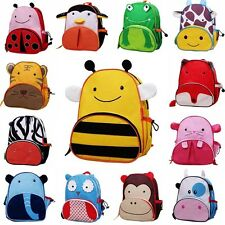 New Kids Children Cartoon Zoo Animal Shoulder Backpack Schoolbag Boy Girl Bags
