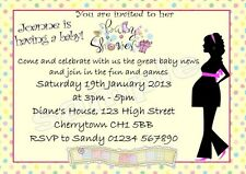 10 Personalised Baby Shower Game cards and Invitations - multiple options - BUMP