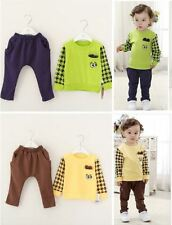 2PCS baby boys cotton tops+pants outfits&set kid boys spring Clothing  cool