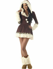 Ladies Womens Sexy Eskimo Inuit Alaskan World Fancy Dress Costume