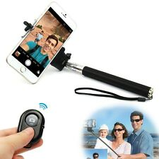 Cell Phone Selfie Extendable Handheld Monopod Stick + Bluetooth Camera Remote