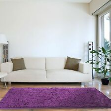 High Pile Plush Shag Style Accent Rug 30 x 60 Choice of Bright Color