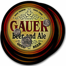 Gauer Beer and Ale Coasters - 4pak - Great Gift