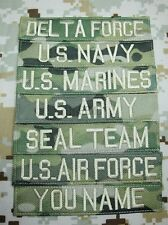 Nylon Multicam Ivory Lette Chest Tape Custom name Tapes Embroidery Velcro Patch