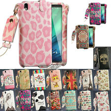 Cute & Sweet PU Leather Sleeve Case Cover Skin + Strap for HTC Desire 816