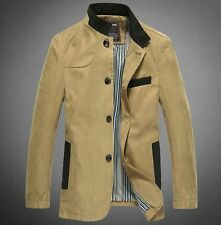 NEW MENS CASUAL TRENCH SLIM FIT STAND COLLAR LONG COAT Jacket
