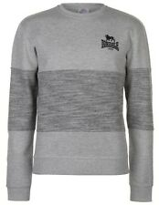 Lonsdale Mens Grey Zip Hoody Hoodie Sweatshirt Sizes S M L XL XXL 3XL 4XL