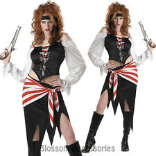 CL38 Ruby The Pirate Beauty Carribbean Fancy Dress Up Halloween Womens Costume