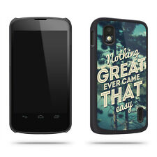 Funda Carcasa Cita Nothing Great Ever Came That Easy Para Móvil Google Nexus 4
