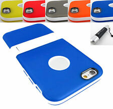"""FOR APPLE IPHONE 6 (4.7"""") LIGHTWEIGHT TPU HYBRID SKIN CASE COVER STAND+STYLUS"""