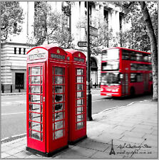 Large 3D London Bus 2 Wall Paper Wall Print Decal Wall Deco Indoor wall Murals