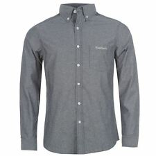 Pierre Cardin Mens C Chambray Shirt Cotton Button Down Long Sleeve Chest Pocket