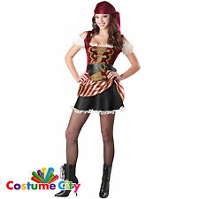 Teen Pirate Jolly Roger Babe Luxury Fancy Dress Party Halloween Costume