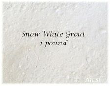 SNOW WHITE GROUT ~ 1 & 2 POUNDS ~ Mosaic Tile TILES