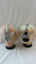 Animal Ear Muffs Childrens Earmuffs Zebra Mouse Fun Earmuffs Ear Warmers I.L.C K