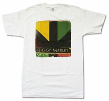 """ZIGGY MARLEY """"WILD AND FREE"""" WHITE T-SHIRT NEW OFFICIAL ADULT REGGAE BOB WAILERS"""