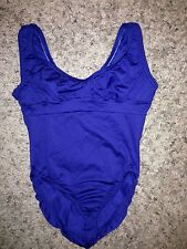 NEW Motionwear Navy Blue Dance Ballet tank style Leotard with Bra Adult XS