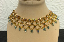 """""""Kango Made""""  Seed bead  Collar /choker  Necklaces  made in  various colours"""