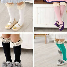 New Baby Chirldren Girl High Socks Knee Tights Highs Stocking Lace Cotton