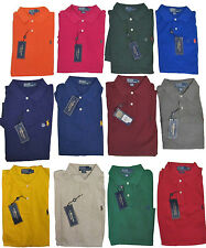 Ralph Lauren Mens Classic Fit Short Sleeve Pony Logo Casual Polo Rugby Shirt