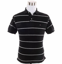 Tommy Hilfiger Men Short Sleeve Stripe Classic Fit Pique Polo Shirt - $0 Ship