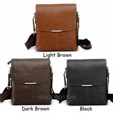 Mens PU Leather Single Shoulder Casual Business Holder Briefcase Messenger Bag