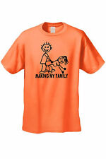 MEN'S FUNNY T-SHIRT Making My Family ADULT SEX HUMOR STICK PEOPLE GRAPHIC JOKE