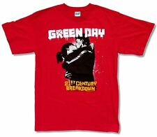 "GREEN DAY ""KISS TOUR 2010 RED"" T-SHIRT NEW OFFICIAL ADULT 21ST CENTURY BREAKDWON"