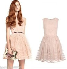 NEW 2014 FALL Red Valentino Organza star embroidered dress Tuelle in PINK $895