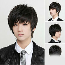 New Fashion Man's And Neutral Short Straight Wigs Cosplay Full Wig 3 colors NC02