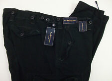 NWT $145 Polo Ralph Lauren Combat Cargo Classic Fit  Chino Pants Mens Black NEW