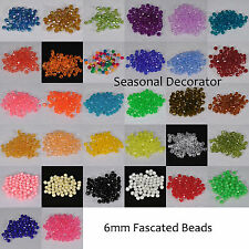 200 Pieces 6mm Faceted Bead Acrylic USA Made 40060000 (Choose Color)