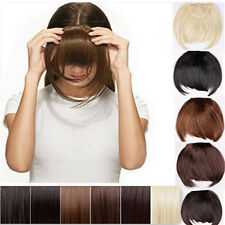 Pretty Lady Girls straight short bangs clip in on fringe hair extensions hst