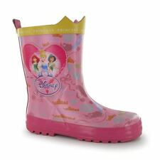 Disney Kids Infants Childrens Wellies Wellington Rubber Boots Snow Shoes Printed
