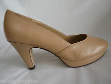 "Bella Vita BETA Nude Leather Round Toe 3.5"" Heel Pumps Med & Narrow & Wide Width"