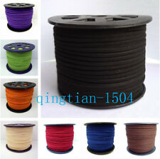 3mm Genuine Leather Cord, Suede Lace Jewelry Making/Beading/Thread flat DIY  HGR