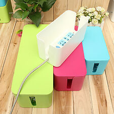 Cable Storage Box Case Wire Management Socket Safety Desk Tidy Organizer New kid