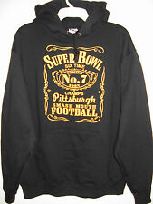 Pittsburgh Six Time Champs Hoodie Pittsburgh Steelers Sizes M-5XL Black & Gold