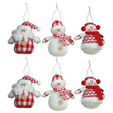 New Fabric Snowman Doll Tree Hang Christmas Decorations Decor Holiday Gift Toy