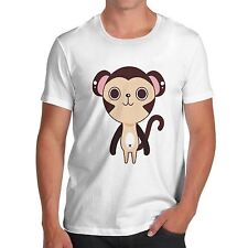 Men Cotton Novelty Funny Animal Theme Cute Monkey Print T-Shirt
