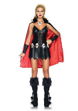 Sexy Roman Xena Princess Warrior Skull Dress Outfit Womens Halloween Costume NEW